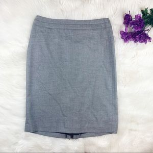 White House Black Market Solid Grey Pencil Skirt